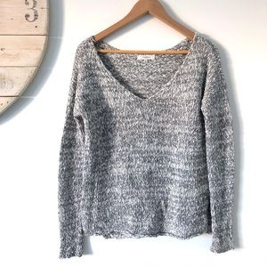 Aritzia   Talula V Neck Knit Cotton Sweater